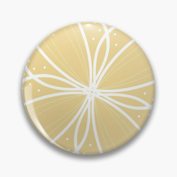 Subtle yellow symmetrical pattern Pin