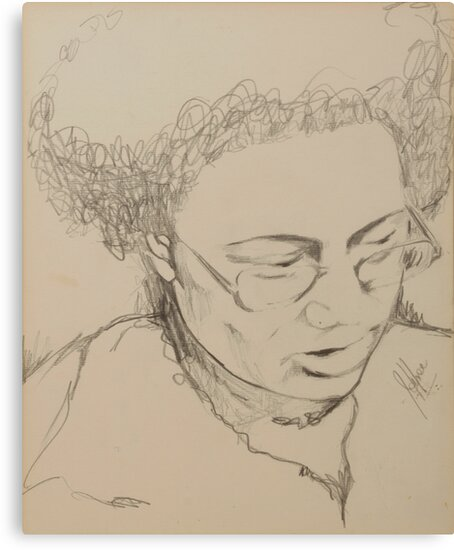 Drawing of a Woman by JolanteHesse