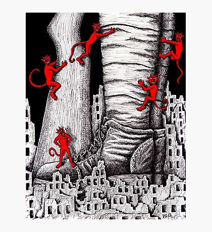 The War pen ink surreal drawing Photographic Print