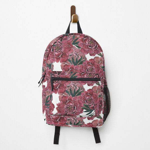 seamless handdrawn pattern PEONY Backpack