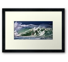 The Art Of Surfing In Hawaii Framed Print