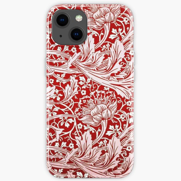Arcadia, vintage pattern by William Morris iPhone Soft Case
