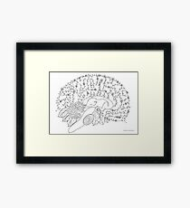 Enchanted forest brain Framed Print