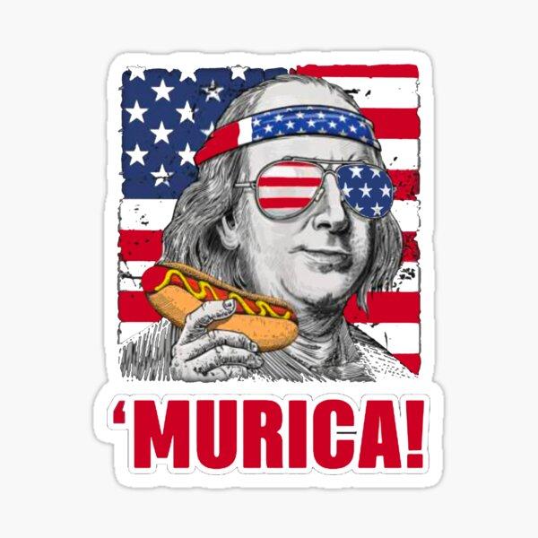 Murica Benjamin Franklin hot dog Sticker