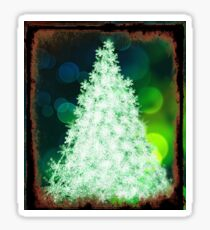 Bokeh Christmas. Sticker