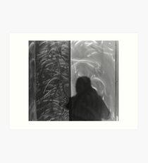 Shadow in Brushed Steel Art Print
