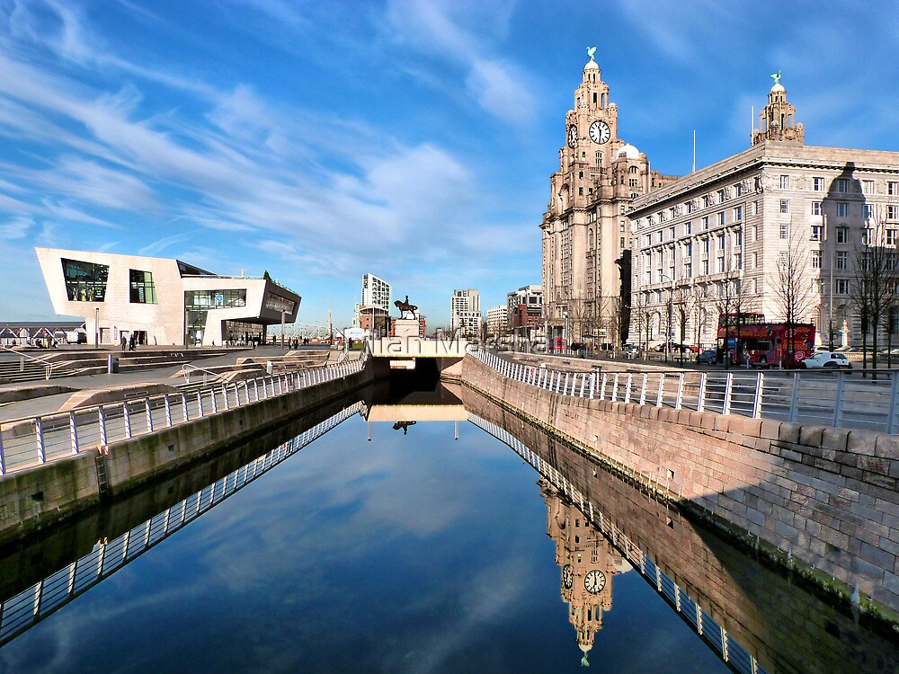 Liverpools Pier Head. by Lilian Marshall