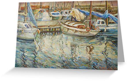 Castellon, Boats at Dusk by Stefano Popovski