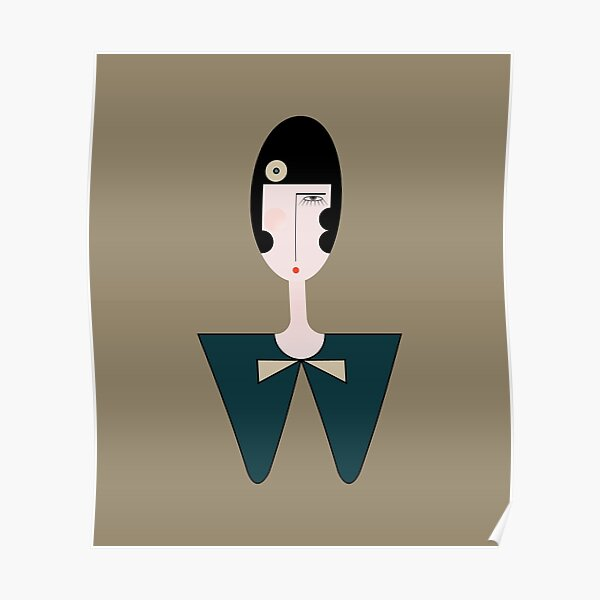 Lolo Doll's head II vertical Art Deco Style Poster