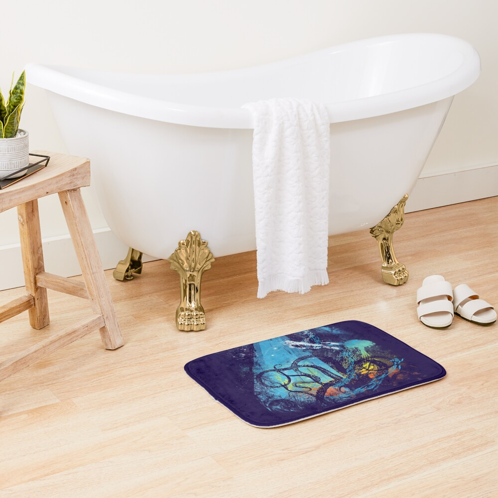 diving danger Bath Mat