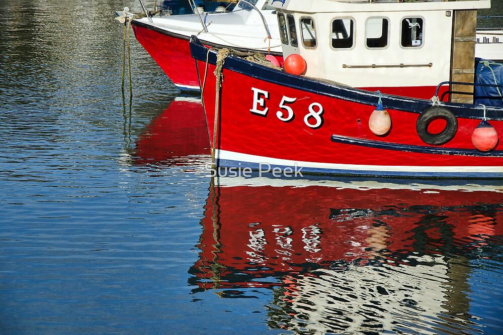Harbour Reds ~ Lyme Regis by Susie Peek