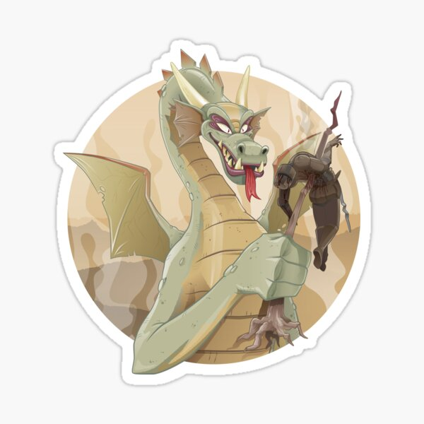 Dragons - Knight Skewer Sticker