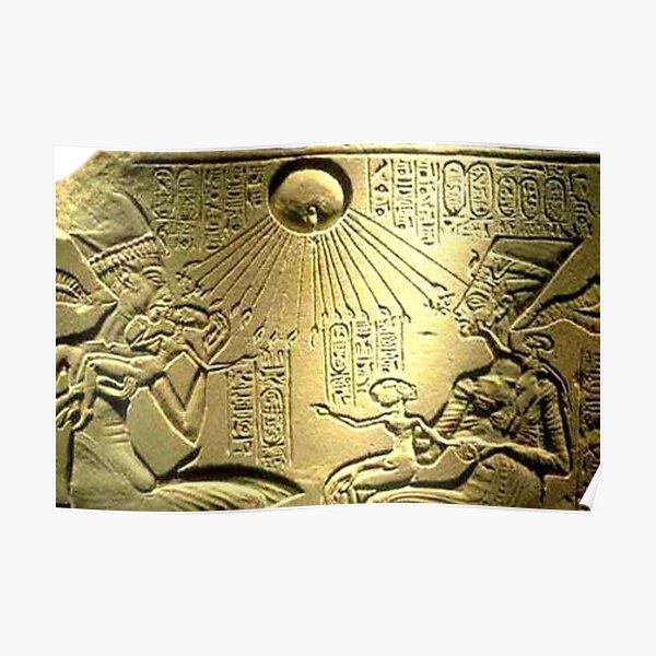 Akhenaten and Nefertiti worship Aten Poster