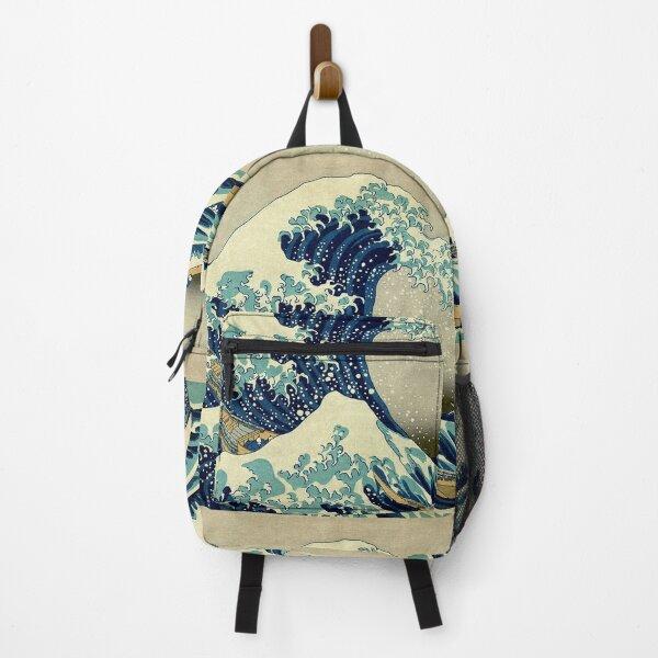 Hokusai, The Great Wave off Kanagawa, Japan, Japanese, Wood block, print. Backpack