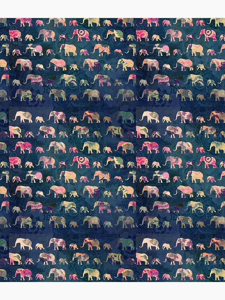 Colorful Elephants by elenabdesigns