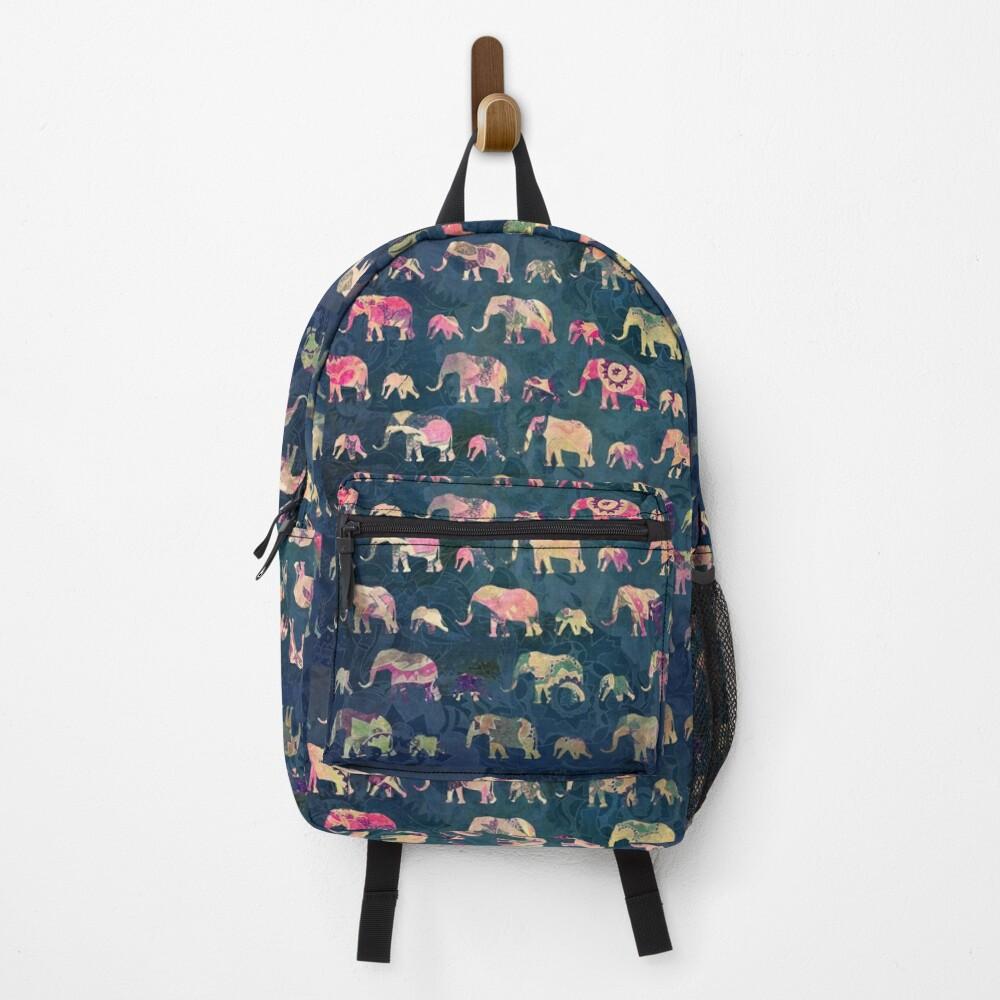 Colorful Elephants Backpack