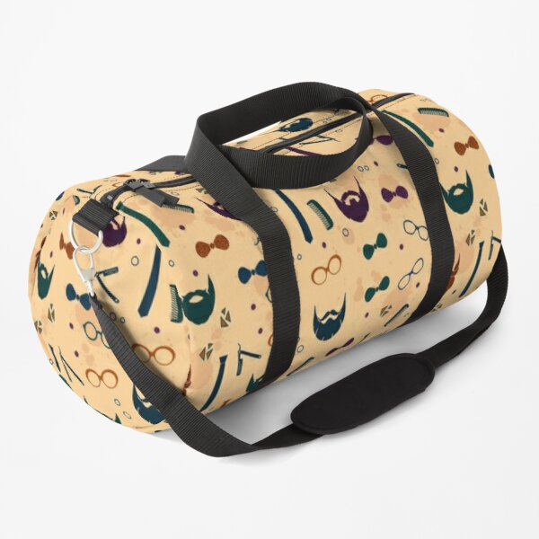 Colorful Modern Beard Design Duffle Bag