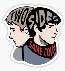 Two Sides of the Same Coin Sticker