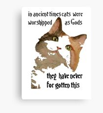 In Ancient Times Cats Were Worshipped As Gods Canvas Print