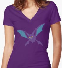 Crobat The Movie The Shirt Women's Fitted V-Neck T-Shirt