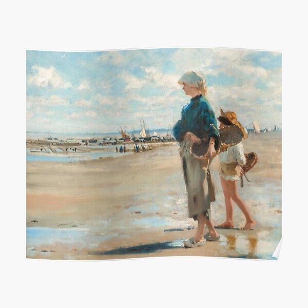 John Singer Sargent - En route pour la peche (Setting Out to Fish) Detail Poster