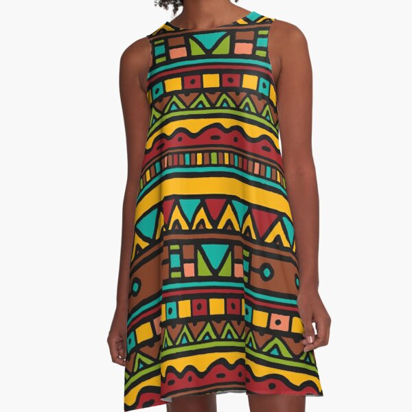 Tribal Patterns A-Line Dress