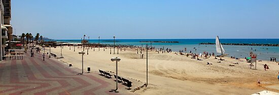 Tel Aviv beach panorama  by PhotoStock-Isra