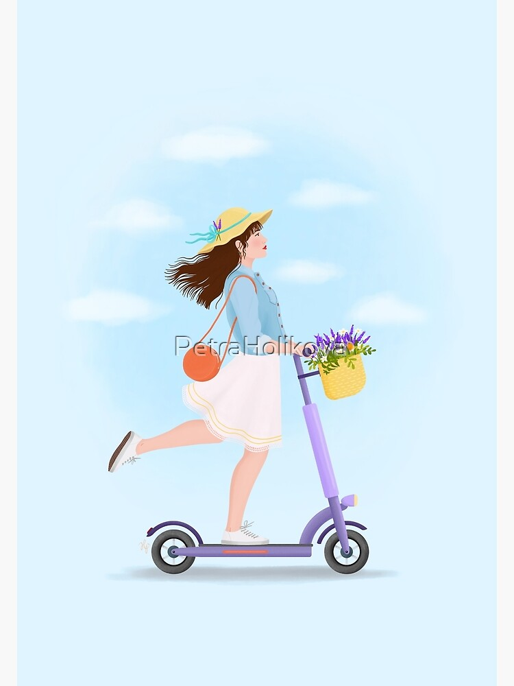 Girl on a kick scooter by PetraHolikova