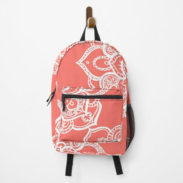 Mandala Living Coral Backpack