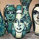 out of the kiln..new fired and glazed pottery. by catherine walker