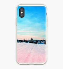 Village scenery in winter wonderland iPhone Case