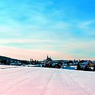 Village scenery in winter wonderland by Patrick Jobst
