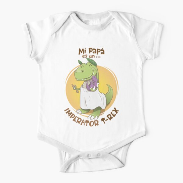 My dad is an imperator t-rex Short Sleeve Baby One-Piece