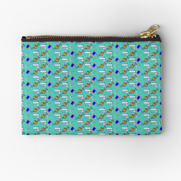 Crafts everywhere collage Zipper Pouch