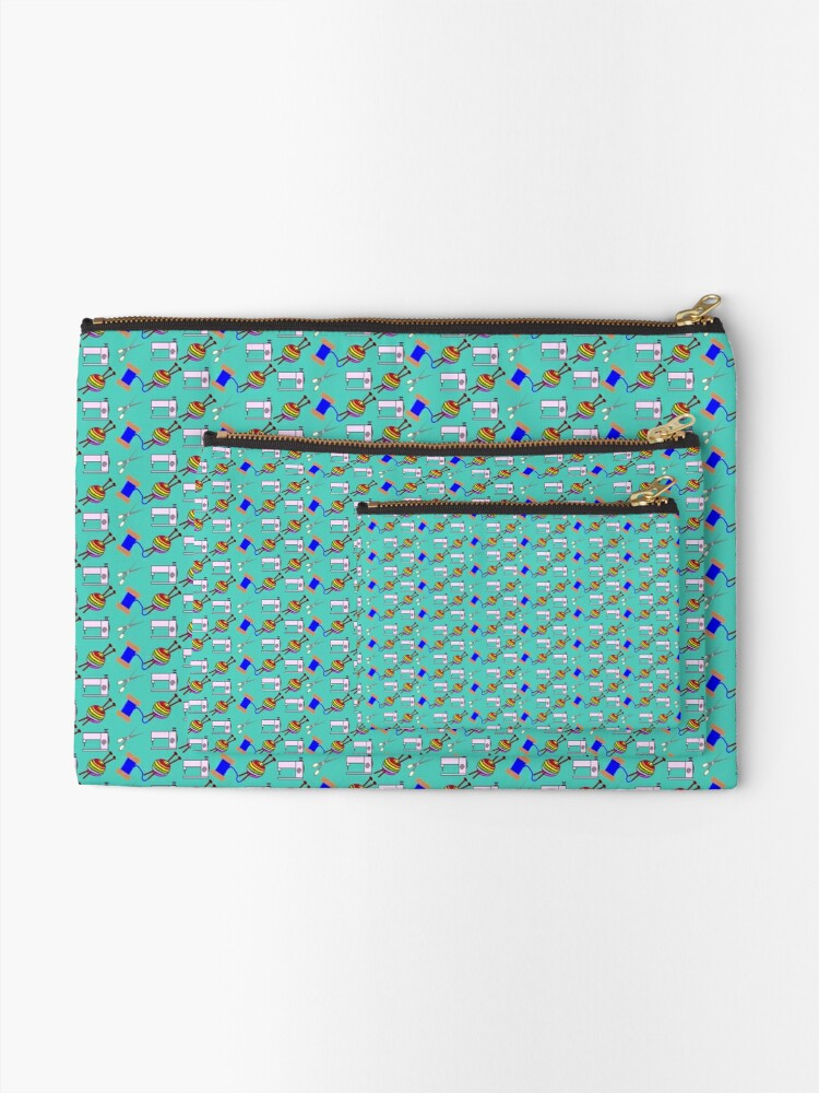 Alternate view of Crafts everywhere collage Zipper Pouch
