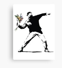 Flower man - Street art Canvas Print