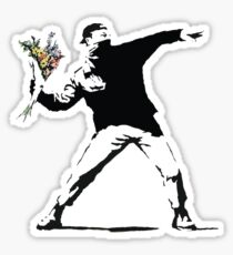 Flower man - Street art Sticker