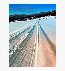 Winter road into the mountains Photographic Print