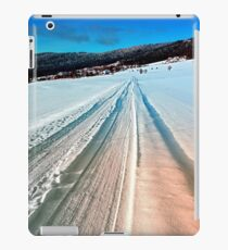 Winter road into the mountains iPad Case/Skin