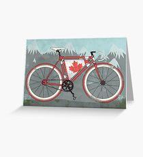 Love Bike, Love Canada Greeting Card