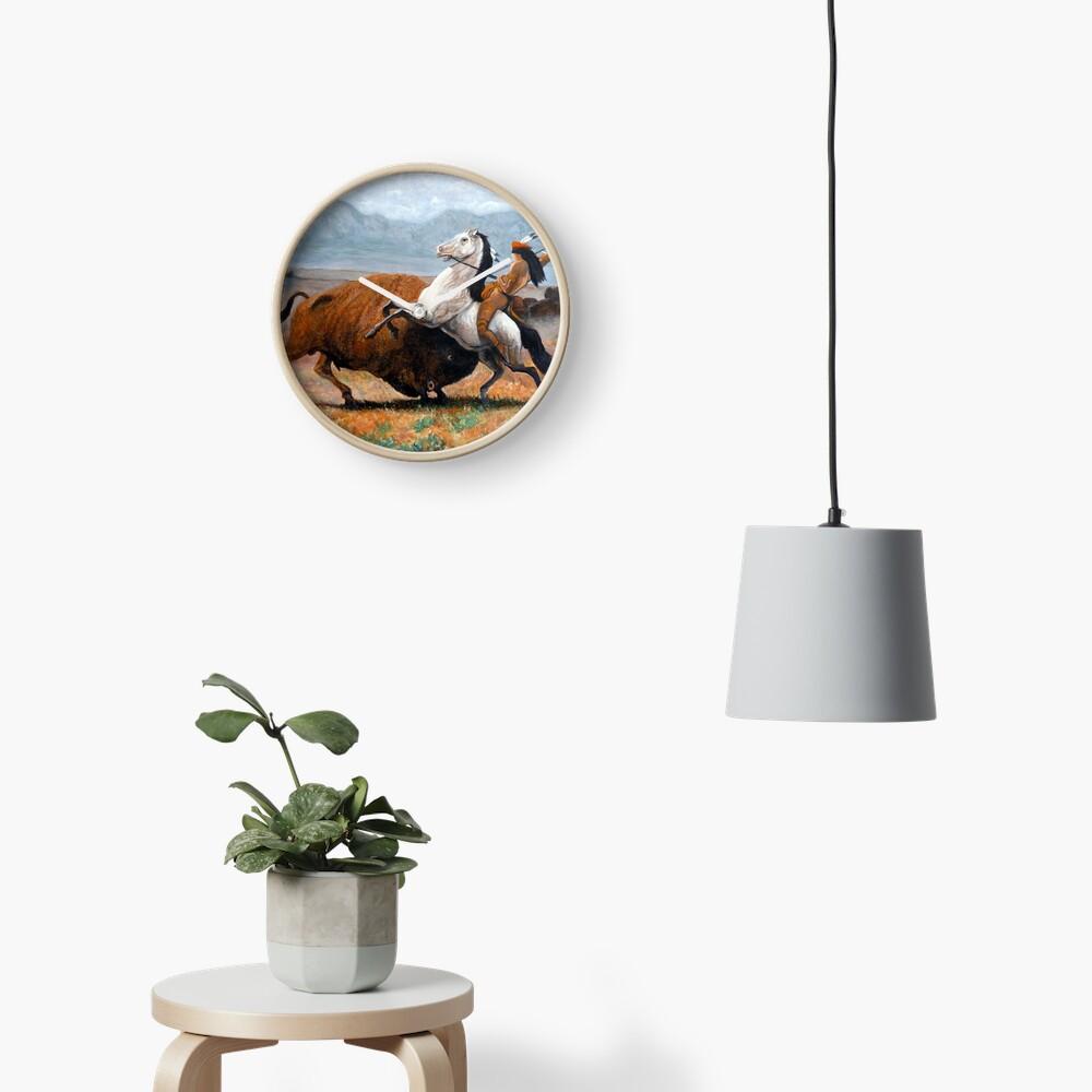 Buffalo Hunt Clock
