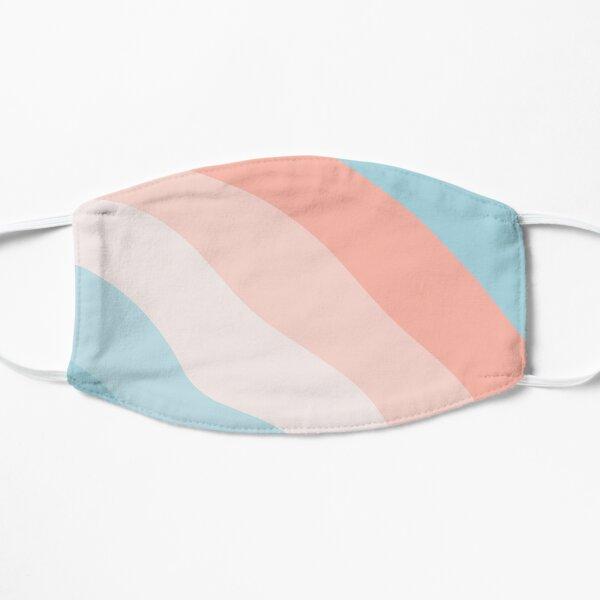 Cotton Candy Striped Pattern Flat Mask