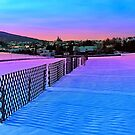 Fences on a winter sundown by Patrick Jobst