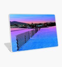 Fences on a winter sundown Laptop Skin
