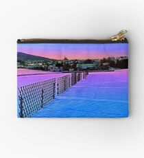 Fences on a winter sundown Studio Pouch