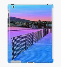 Fences on a winter sundown iPad Case/Skin