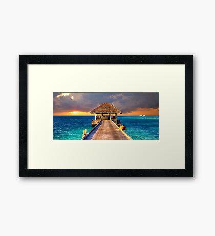 Maldives Sunset  Framed Print