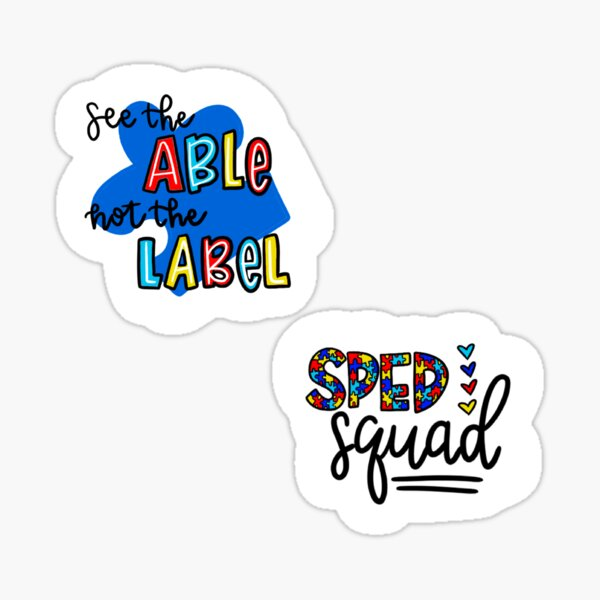 Special Education Stickers  Sticker