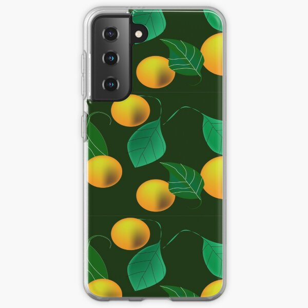 Pattern with yellow fruits Samsung Galaxy Soft Case