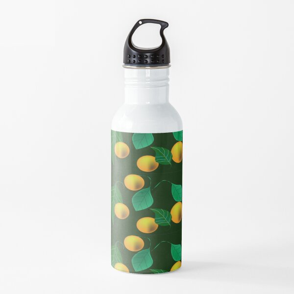 Pattern with yellow fruits Water Bottle